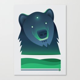 Spirit of the Blue Bear Canvas Print
