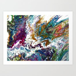 Color Oasis digitally enhanced from White Oasis Art Print