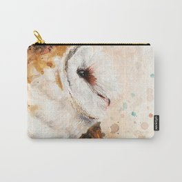 Rustic Barn Owl Artwork Carry-All Pouch