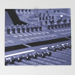 Mixing Console Throw Blanket