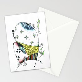 Left Mitten in color Stationery Cards