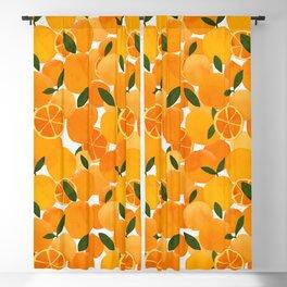 mediterranean oranges still life  Blackout Curtain