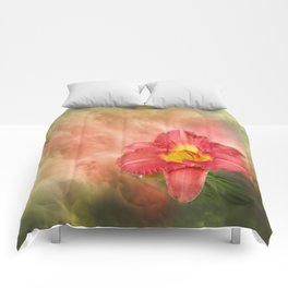 Beautiful day lily Comforters