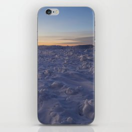 Minimal Winter Landscape in Wisconsin iPhone Skin
