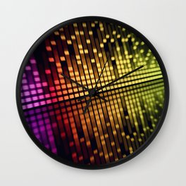 sound mixer equalizer Wall Clock