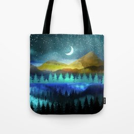 Silent Forest Night Tote Bag