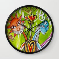 alchemy Wall Clocks featuring Alchemy  by LuxMundi
