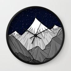 The Dark Grey Mountains Wall Clock