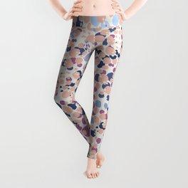 MOTAS - Spots, Dot, Coral, Pink, Blue Dots, Animal Print Leggings