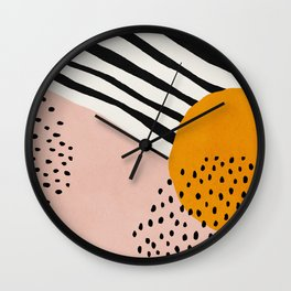 Abstract, Mid century modern art Wall Clock