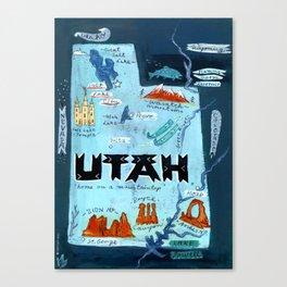 UTAH map Canvas Print