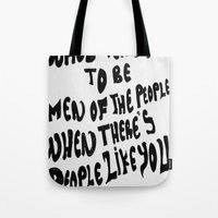 arctic monkeys Tote Bags featuring Arctic Monkeys 'Like You' by SLIDE