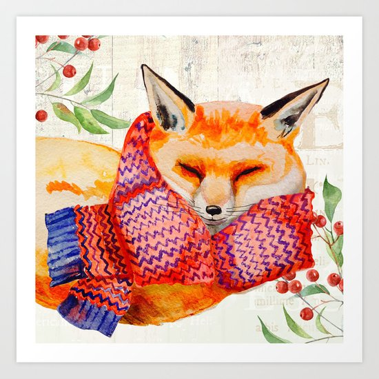 Winter animal #3 Art Print