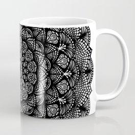 Black and White Lace Mandala - LaurensColour Coffee Mug