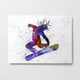 young snowboarder Metal Print