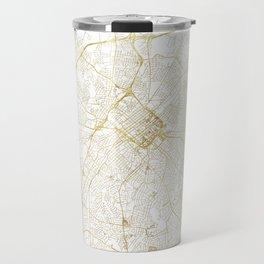 Charlotte Map Gold Travel Mug