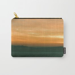 sunset over the frozen Lake Michigan  Carry-All Pouch