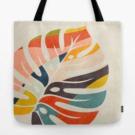 shape leave modern mid century Tote Bag
