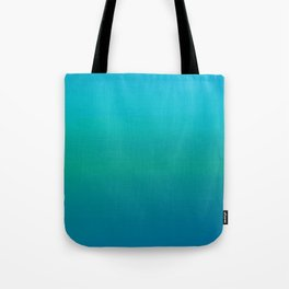 Ombre, Blue to Teal Tote Bag
