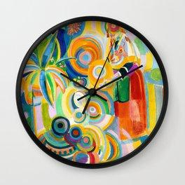 Robert Delaunay - Portuguese Woman - Digital Remastered Edition Wall Clock