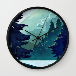 Canadian Mountain Wall Clock