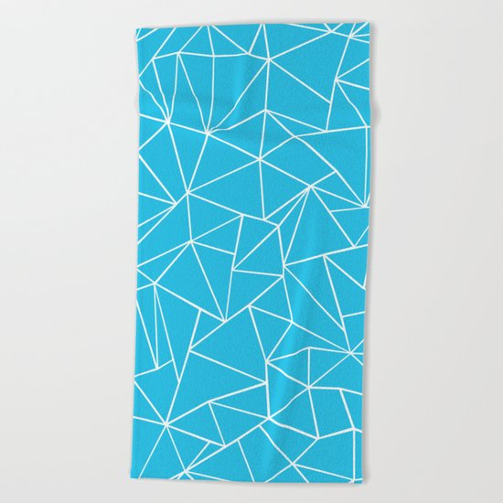 Ab Outline Electric Beach Towel