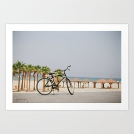 Bicycle by the Beach Art Print