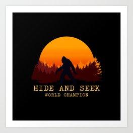Bigfoot - Hide and Seek World Champion Kunstdrucke