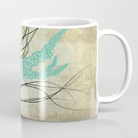 jelly fish Mugs featuring Jelly Fish  by Greenwell Art