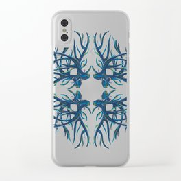 Coral Fan Clear iPhone Case