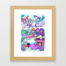 Stardew Valley - All My Friends Are Here Framed Art Print