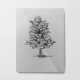 Little Tree in pen Metal Print