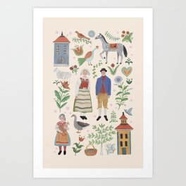 Swedish Folk Art Kunstdrucke
