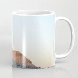 Sunset at Lighthouse in East Hampton Coffee Mug