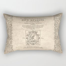 Cervantes. Don Quijote, 1605. Rectangular Pillow