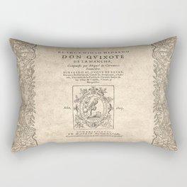 Cervantes. Don Quijote, 1605. Rectangular Pillow