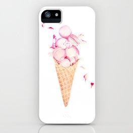 Pink Macaroons Rose Ice Cream Fashion Stylish Minimalism Food iPhone Case
