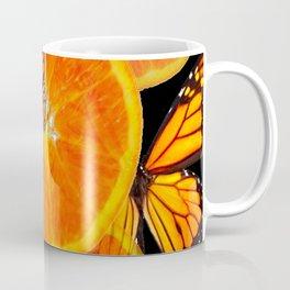 CONTEMPORARY MONARCHS & ORANGES ART Coffee Mug