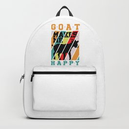 Goats Makes Me Happy Cool Animal Gift Backpack