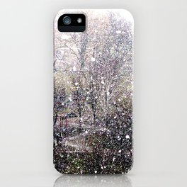 Snow in early fall(1)  iPhone Case