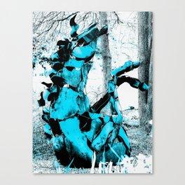 Cold Blue Horse Canvas Print