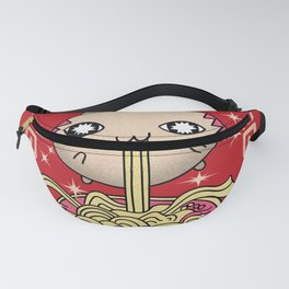 Hungry Ramen Cat / kawaii / cat / noodles / ramen Fanny Pack