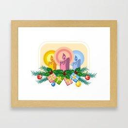 Christmas candles Framed Art Print