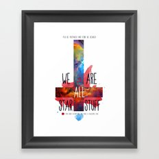 :: BE PREPARED AND DON´T BE SCARED ;) Framed Art Print