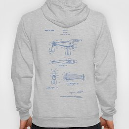 Fishing Lure Vintage Patent Hand Drawing Hoody