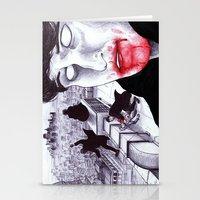 """modern vampires of art history Stationery Cards featuring """"Modern Vampires of the City"""" by Cap Blackard by Consequence of Sound"""