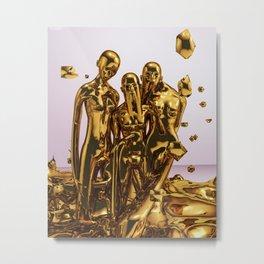 Molten Gold Metal Print