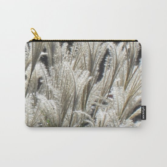 Silver Grass Plumes Carry-All Pouch