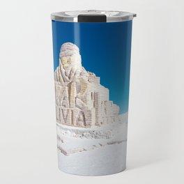 Dakar, Bolivia Monument in Salar de Uyuni, Salt Flats Travel Mug