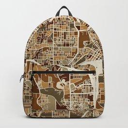 Atlanta Georgia City Map Backpack